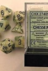 Chessex Dice Block 7ct. - Marble Green/Dark Green