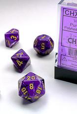 Chessex Dice Block 7ct. - Vortex Purple/Gold