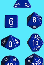 Chessex Dice Block 7ct. - Blue/White