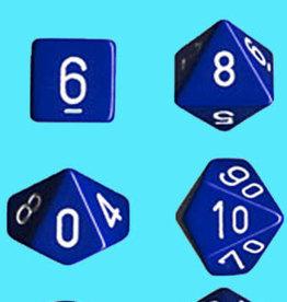 Chessex Dice Block 7ct. - Blue/White
