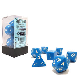Chessex Dice Block 7ct. - Light Blue/White