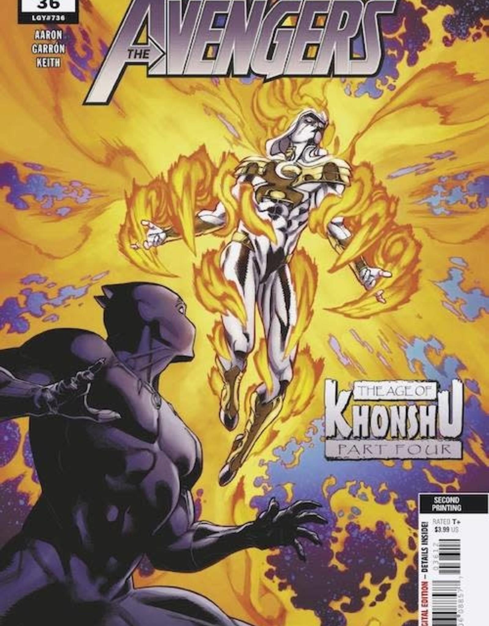 Marvel Comics Avengers #36 2nd Ptg Var