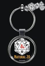Ata Boy Dungeons & Dragons Keychain: Natural 20