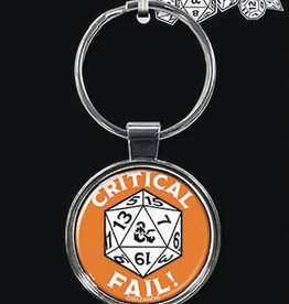 Ata Boy Dungeons & Dragons Keychain: Critical Fail