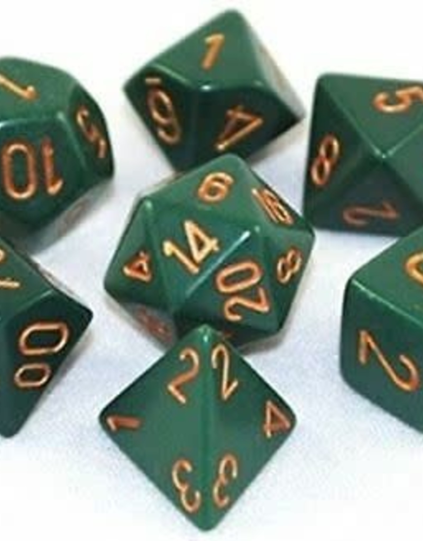 Chessex Dice Block 7ct. - Dusty Green/Copper