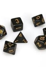 Chessex Dice Block 7ct. - Black/Gold