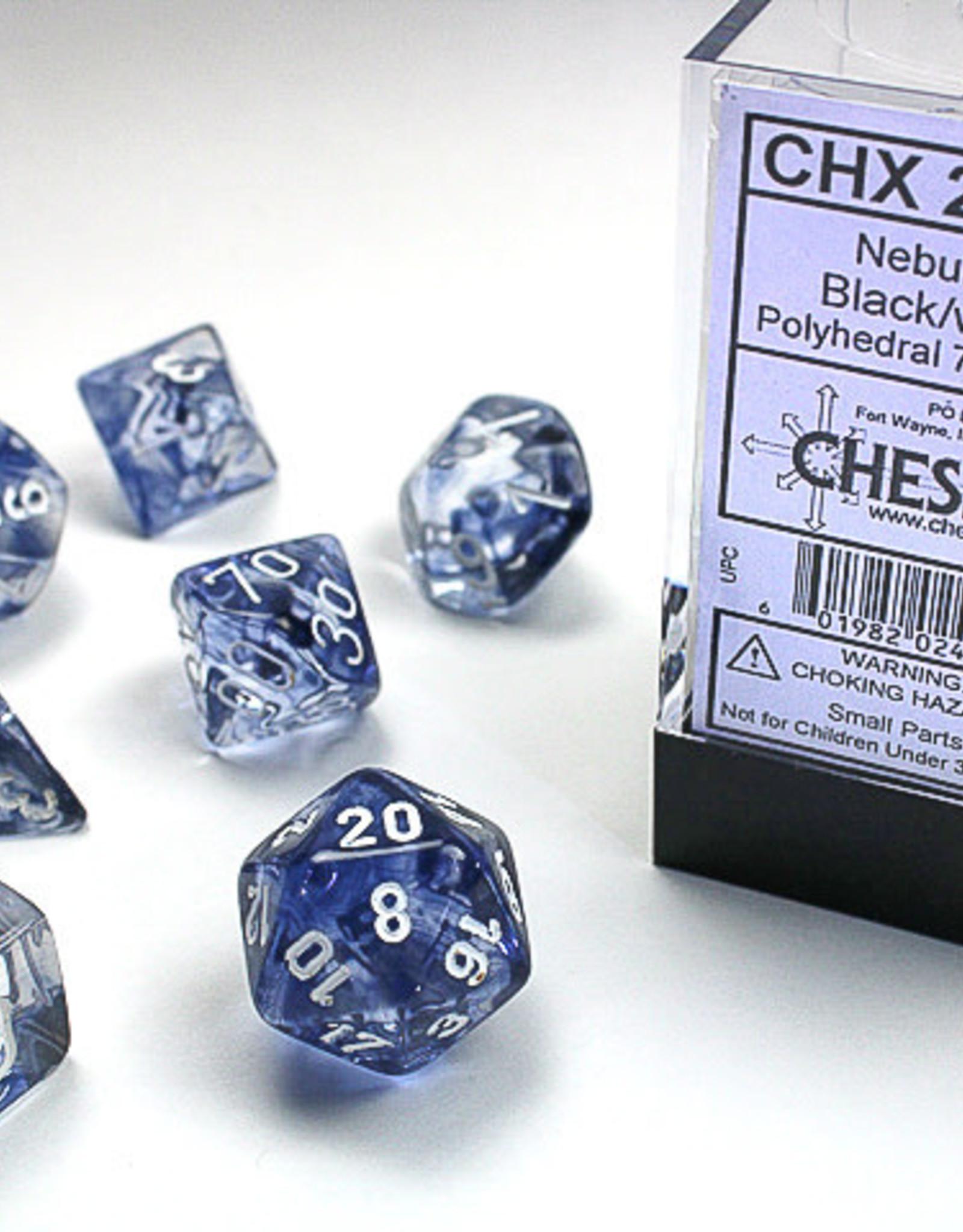 Chessex Dice Block 7ct. - Nebula Black/White