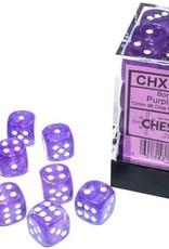 Chessex Dice Block D6 12mm 36ct. - Borealis Purple/White