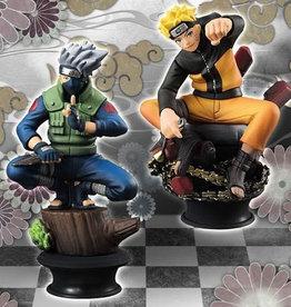 Megahouse Corporation Naruto Shippuden Chess Piece Coll Naruto & Kakashi Set