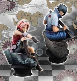 Megahouse Corporation Naruto Shippuden Chess Piece Coll Sasuke & Sakura Set