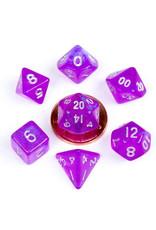Metallic Dice Games 7ct Poly Acry Stardust: Purple