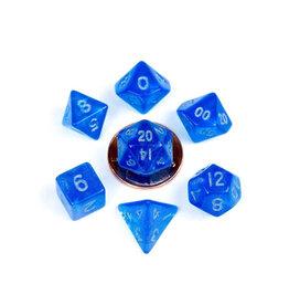 Metallic Dice Games 7ct PolyAcry Stardust: Blue