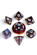 Metallic Dice Games 7ct Mini Poly Dice Set Stardust Galaxy