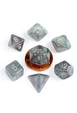 Metallic Dice Games 7ct Mini Stardust: Gray w/Silver