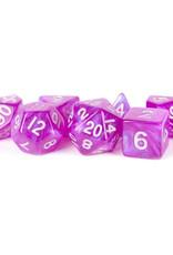 Metallic Dice Games 7ct Mini Poly Dice Set Stardust Purple