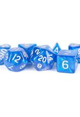 Metallic Dice Games 7ct Mini Poly Dice Set Stardust Blue w/Silver