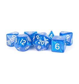Metallic Dice Games 7ct Mini Stardust: Blue w/Silver