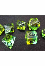 Sirius Dice 7ct Semi-Translucent Poly Dice Set: Mojito