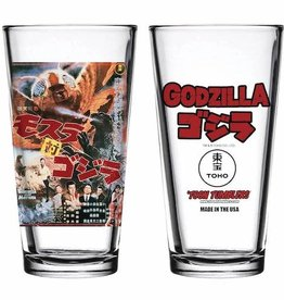 Popfun Godzilla 1964 Mothra Vs Godzilla Movie Pint Glass