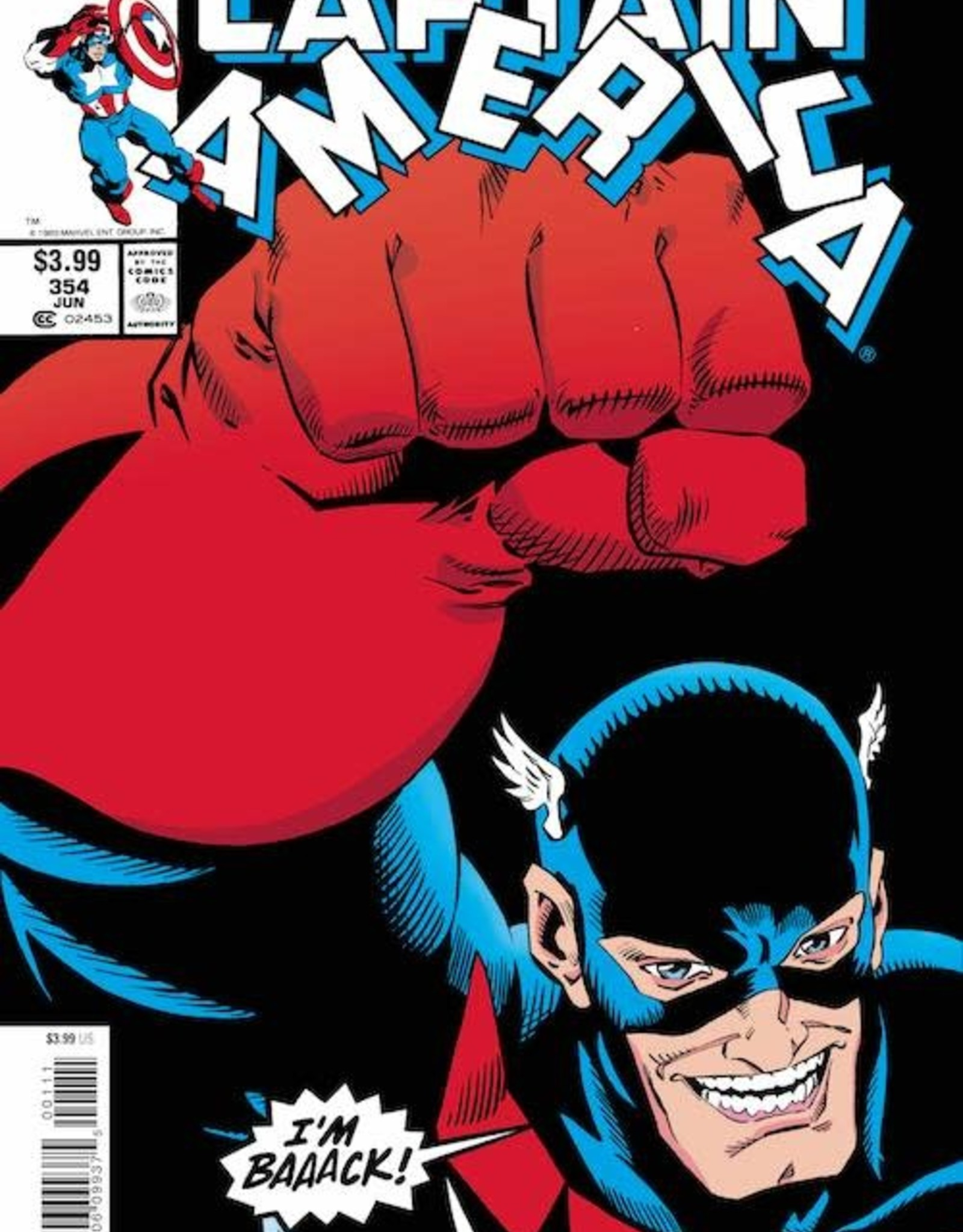Marvel Comics Captain America #354 Facsimile Edition