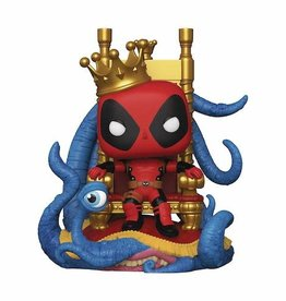 Funko Pop Deluxe Marvel Heroes King Deadpool On Throne Px Vin Fig