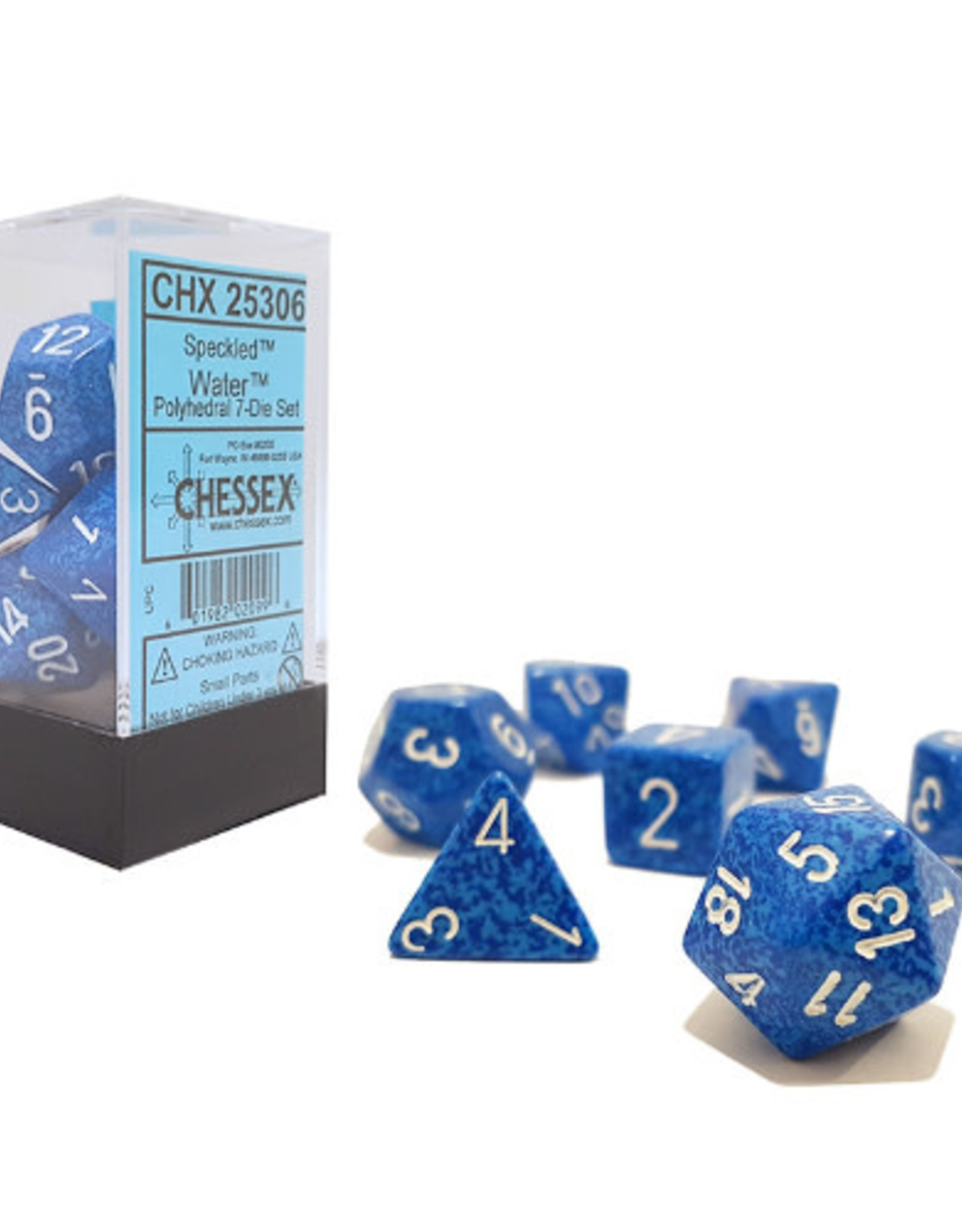 Chessex Dice Block 7ct. - Speckled Water