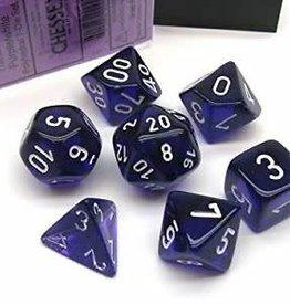 Chessex Dice Block 7ct. - Trans Purple/White