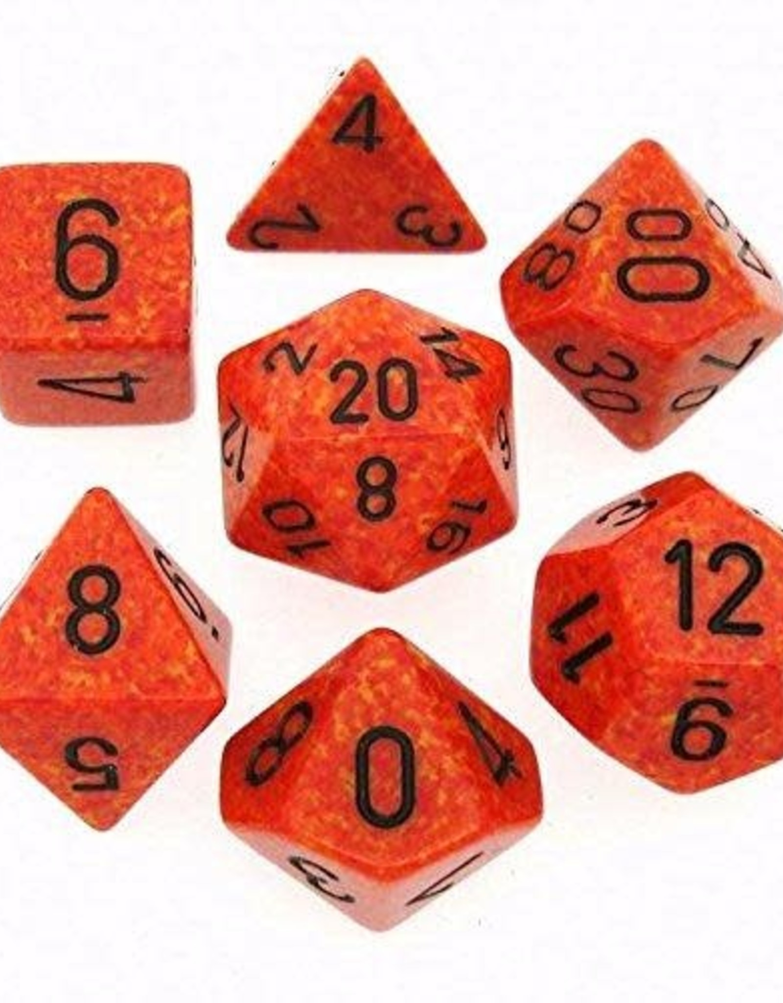 Chessex Dice Block 7ct. - Speckled Fire