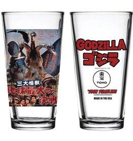 Popfun Godzilla 1964 Ghidorah 3-headed Monster Movie Pint Glass