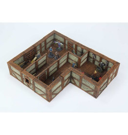 Wizkids Warlock Tiles: Town And Village 2: Full Height Plaster Walls Expansion