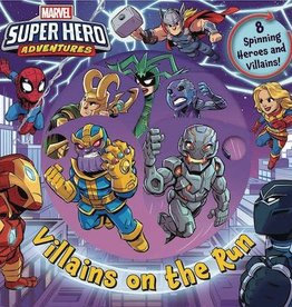 Printers Row Marvel Super Hero Adv Villains On The Run Board Book