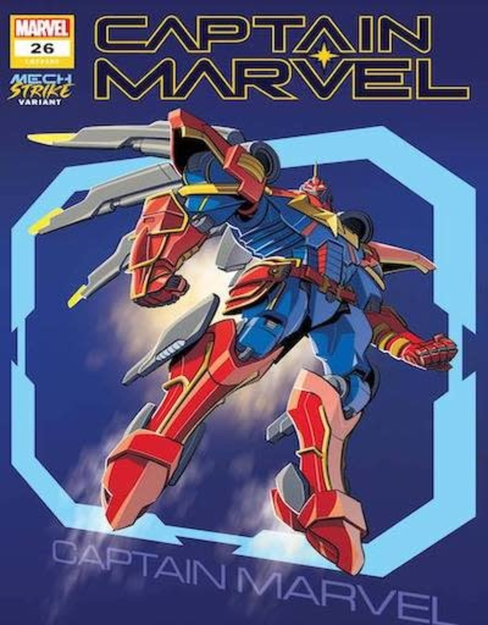 Marvel Comics Captain Marvel #26 Castellani Avengers Mech Strike Var