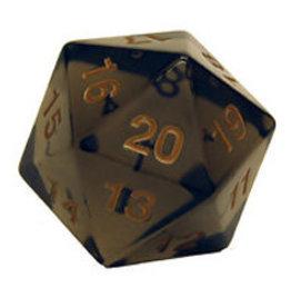 Koplow Games Opaque: 55mm D20 Countdown Smoke/Gold