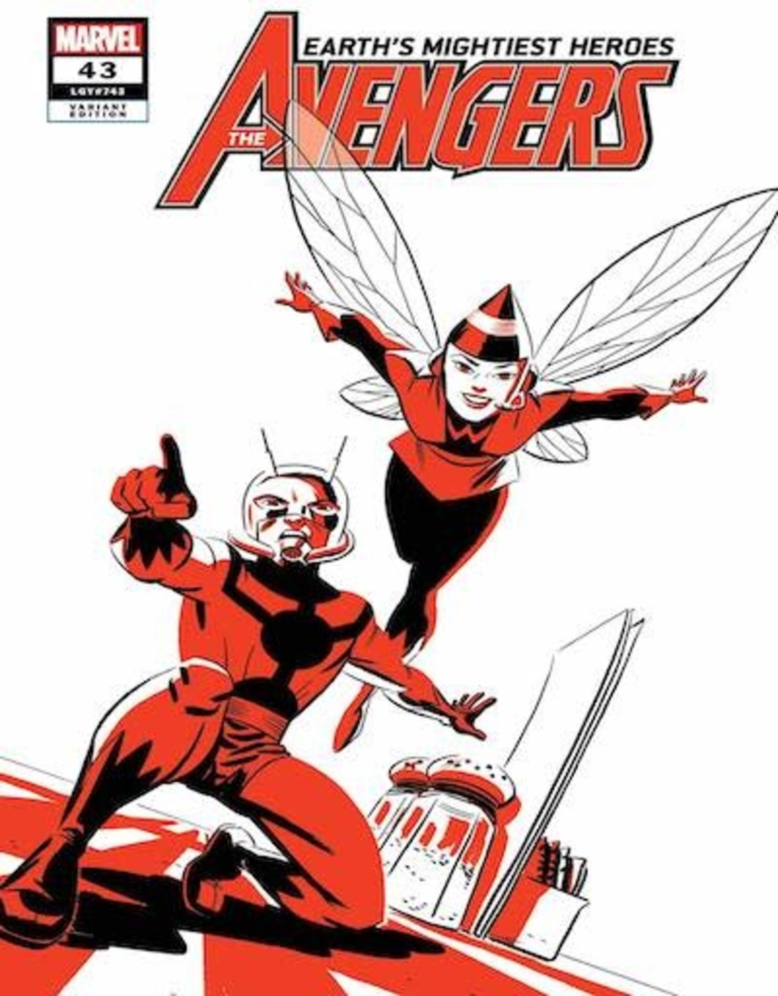 Marvel Comics Avengers #43 Ant-Man And Wasp Two-Tone Var