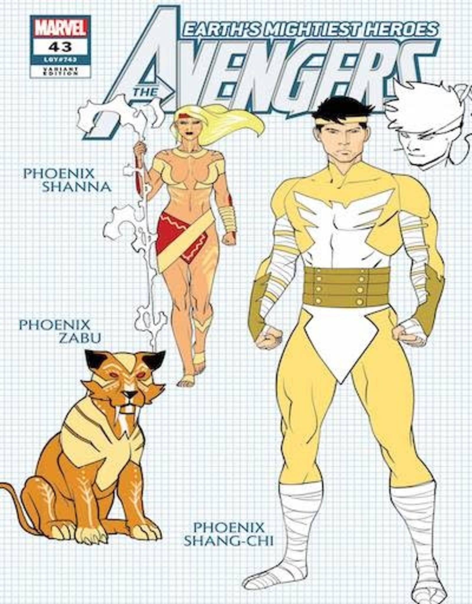 Marvel Comics Avengers #43 Garron Design Var