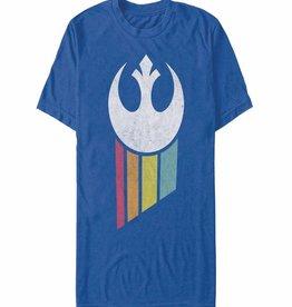 Fifth Sun Star Wars Rainbow Rebel Logo T/S XL