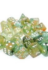 Chessex 7ct Polyhedral Set: Nebula Luminary: Spring w/White