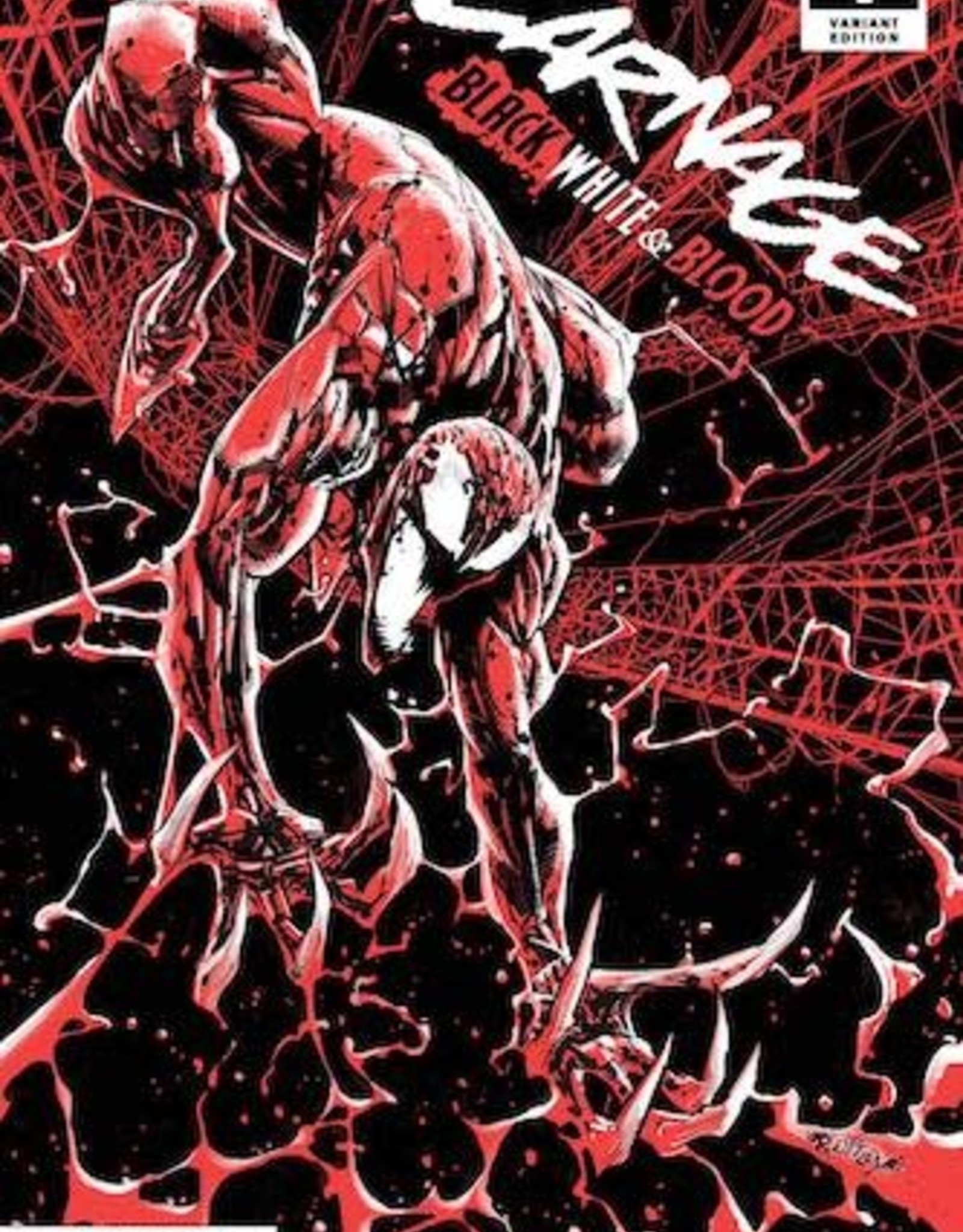 Marvel Comics Carnage Black White And Blood #1 Ottley Var