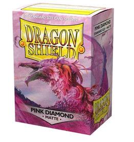 Arcane Tinmen Dragon Shield: Matte Pink Diamond (box Of 100)