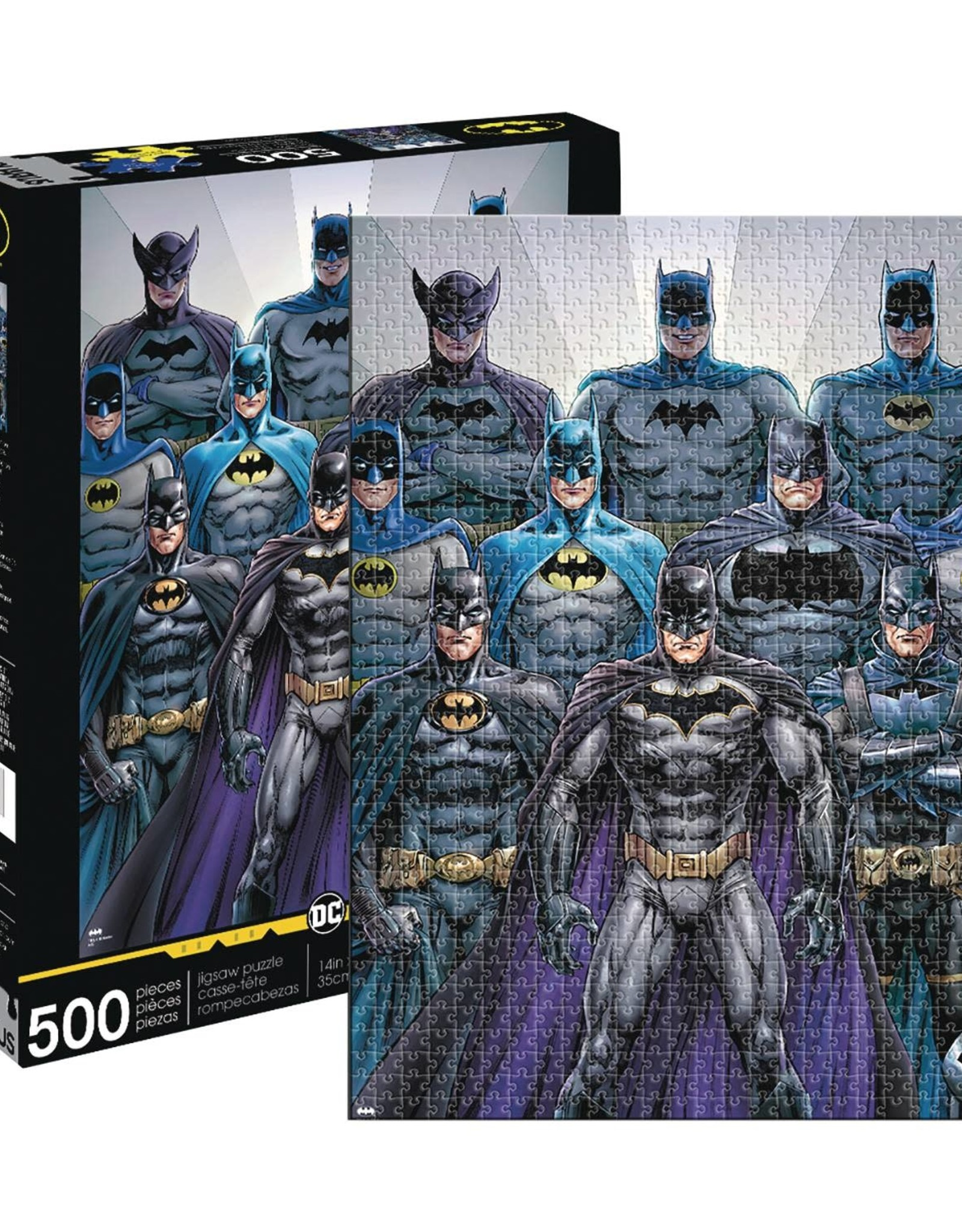 NMR Aquarius Batman Batsuits 500pc Puzzle