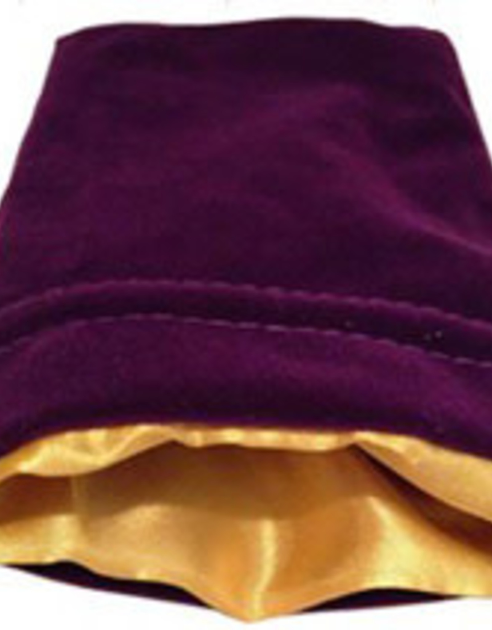 Metallic Dice Games 4in x 6in SMALL Purple Velvet Dice Bag with Gold Satin Lining