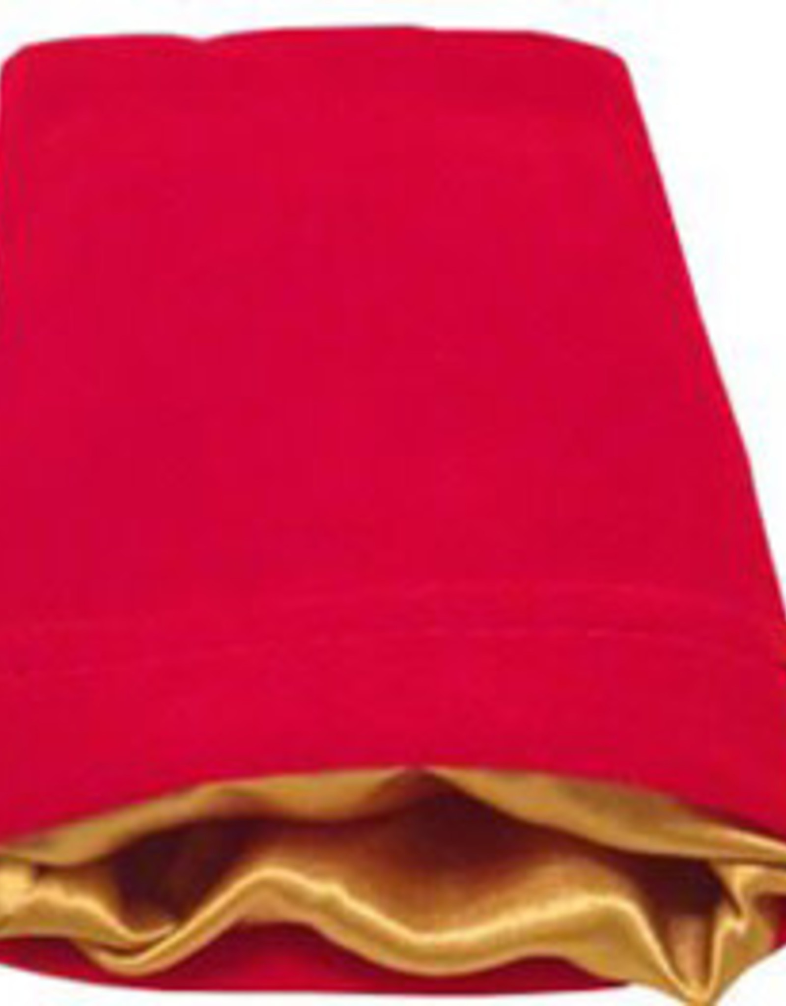 Metallic Dice Games 4in x 6in SMALL Red Velvet Dice Bag with Gold Satin Lining
