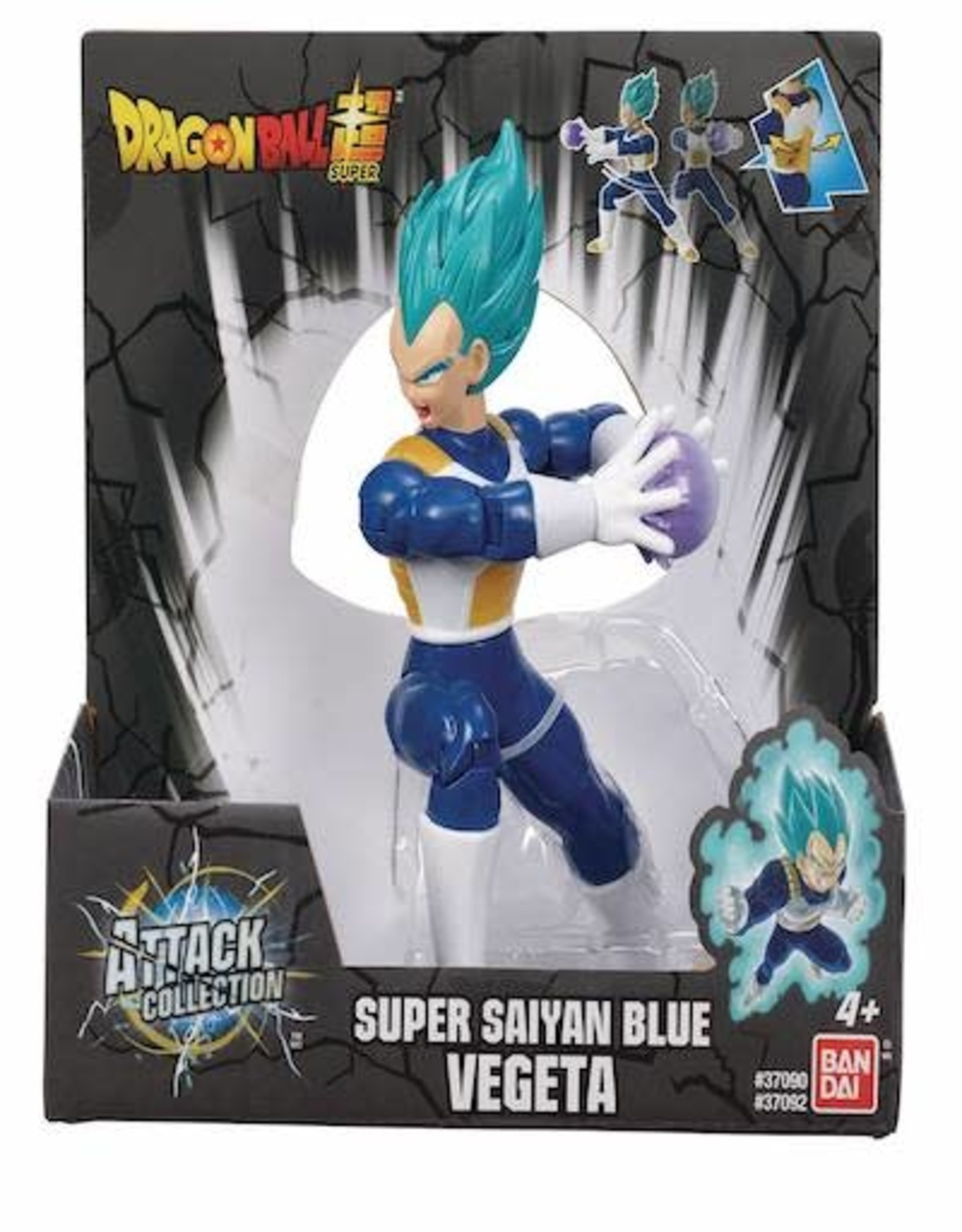 Bandai Dragon Ball Super Attack Collection Ss Blue Vegeta 7in Action Figure