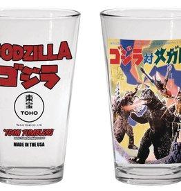 Popfun Godzilla 1973 Godzilla Vs Megalon Movie Pint Glass