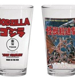 Popfun Godzilla 1968 Destroy All Monsters Movie Pint Glass