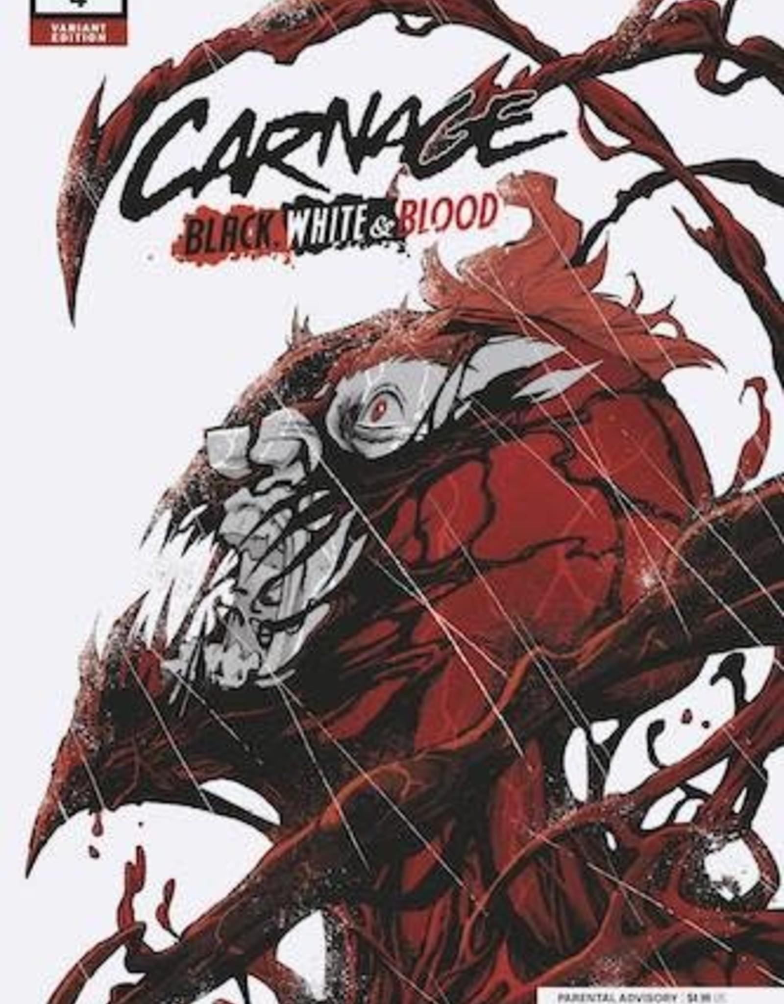 Marvel Comics Carnage Black White And Blood #4 Randolph Var