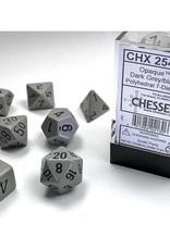 Chessex Dice Block 7ct. - Dark Grey/Black