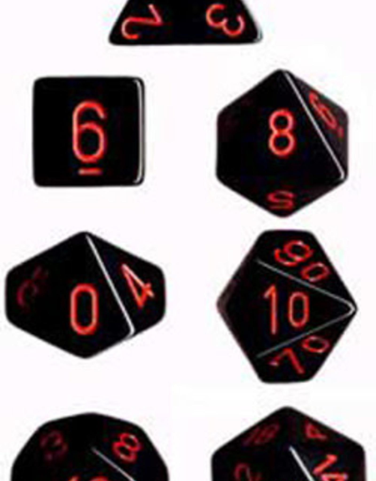 Chessex Dice Block 7ct. - Black/Red
