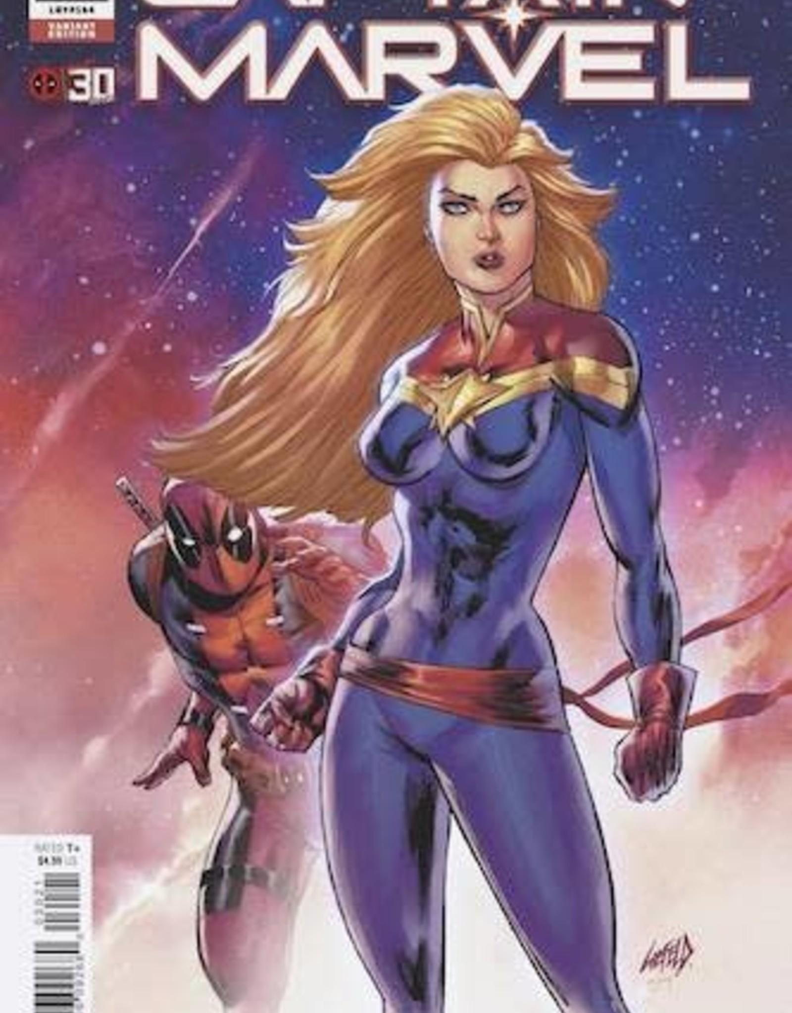 Marvel Comics Captain Marvel #30 Liefeld Deadpool 30th Var