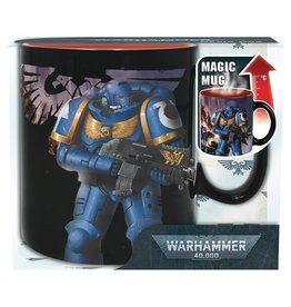 Abysse America Warhammer Ultramarines Vs Black Legion Heat Change 16oz Mug